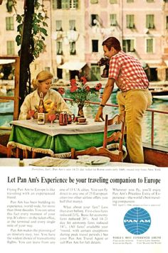 1964 Travel Advertisement for Pan Am