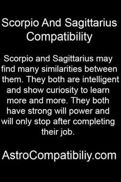 Sagittarius and scorpio man