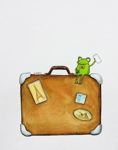 suitcase frog