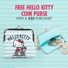 FREE Hello Coin Purse with  35 purchase on Sanrio.com. We only have a. Hello  Kitty StoreHello ... 659914c74b37f