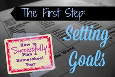 How to Successfully Plan a Homeschool Year - the 3 steps involved in getting yourself ready for success.