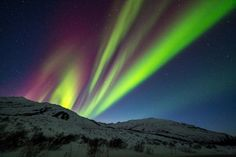 Aurora in Alaska (2013) at its peak of the 12 year solar cycle