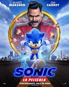 SONIC THE HEDGEHOG is a live-action adventure comedy based on the global . The film also stars Tika Sumpter and Ben Schwartz as the voice of Sonic. Alien Movie Poster, Old Movie Posters, Horror Movie Posters, Okja Movie, Boy Movie, Epic Movie, Sonic The Hedgehog, Hedgehog Movie, Jim Carrey