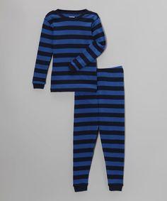 Look what I found on #zulily! Blue & Navy Stripe Pajama Set - Infant, Toddler & Boys #zulilyfinds  Ahren