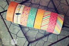 Pick Your Plum Washi Tape Today Only $1.50 a roll.