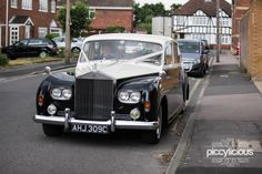 Black and White Rolls Royce