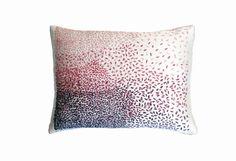 Rag stitch cushion