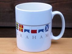 Kyrios Design Personalised & Novelty Mugs by KyriosDesign Nautical Flags, Nautical Design, Moon On The Water, 5 Star Resorts, Boat Names, Private Yacht, Novelty Mugs, Super Yachts, Luxury Yachts