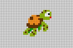 Finding Nemo Turtle Pixel Art