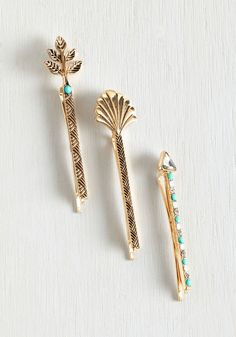 Art Deco-ration Hair Pin Set - Gold, Special Occasion, Party, Vintage Inspired, Good, 20s, 30s, Wedding, Bride