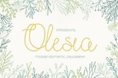 Exclusive Freebie: Olesia - Romantic Script Font