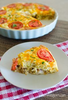 Slimming Eats Breakfast Quiche - gluten free, Slimming World and Weight Watchers friendly Breakfast Quiche, Sausage Breakfast, Breakfast Dishes, Breakfast Recipes, Breakfast Casserole, Sausage Quiche, Quiches, Slimming Eats, Slimming World Recipes