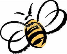 Cartoon honey bee Stock Photos - 1/11: Honey Bee Tattoo, Bumblebees Tattoo
