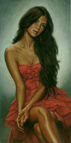 The red dress by Emmanuel Garant