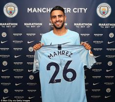 Riyad Mahrez (ALG) - from Leicester City (ENG) to Manchester City (ENG) - £60m - Summer 2018