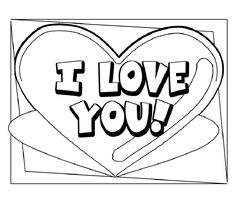 coloring pages that say love Love Pinterest