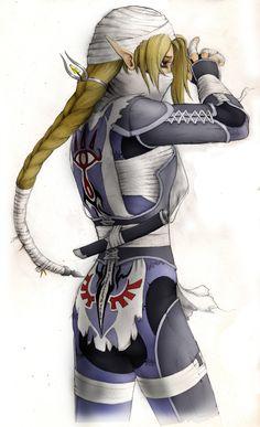 Sheik Legend of Zelda Wolf | false there is indeed a ninja in the legend of zelda