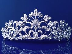 SC Princess Bridal Wedding Prom Silver Rhinestone Crystal Tiara 1251