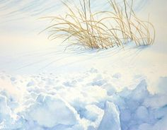 A Watercolor Artist Abe Toshiyuki Watercolor Trees, Watercolor Artwork, Watercolor Landscape, Watercolor Illustration, Landscape Art, Landscape Paintings, Painting Snow, Winter Painting, Painting & Drawing