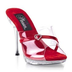 SALE - Womens Pleaser Excite 401H Stiletto Heels Red - Was $41.80 - SAVE $4.00. BUY Now - ONLY $37.95.