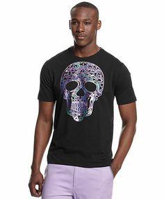 Sean John Big and Tall Skull T-Shirt Men - T-Shirts - Macy s 829089e1e78