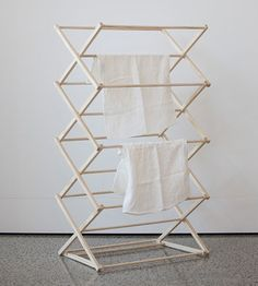 Father Rabbit Wooden Clothes Drying Rack