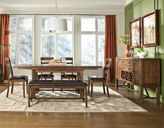 Santa Clara Trestle Table Dining Room Set by Intercon - Home Gallery Stores