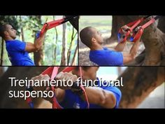 Treinamento funcional com fita para exercícios suspensos