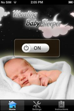 Vibrating Baby Sleeper -It helps your baby self-settle and thereby gives you a well-deserved break as well. The application works by sending soothing and relaxing vibrations through the mattress as well as creating white noise: two fundamental elements to help your baby settle.  Available on iTunes.