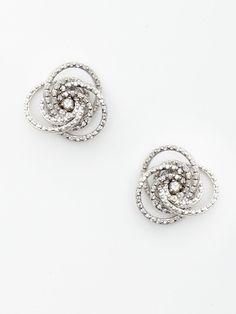 H2 at Hammerman Diamond Flower Swirl Stud Earrings--- MAMA I want these!!