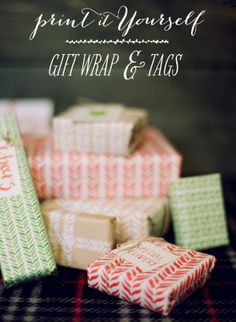 SMP at Home: Printable Gift Wrap & Tags
