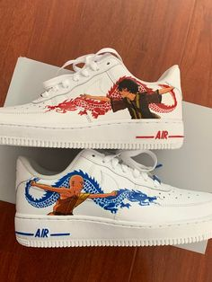 The Last Avatar, Avatar The Last Airbender Art, Aesthetic Shoes, Aesthetic Clothes, Custom Sneakers, Custom Shoes, Basket Style, Avatar Cartoon, Dragon Dance