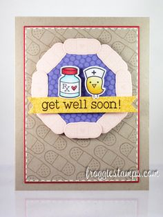 Lawn Fawn - Get Well Soon + coordinating dies _ super cute get well card  by Kelli via Flickr - Photo Sharing!
