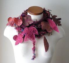 Lovely fiber art scarf