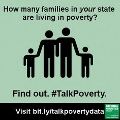 How many families in #WA are living in poverty? #TalkPoverty and demand solutions at SOTU!  To RT on twitter, click the image