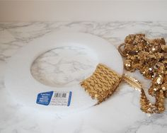 3. Sequin wreath