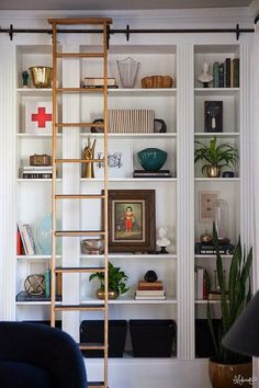 Don't you love finding IKEA hacks that are wildly functional and extremely good-looking? Kudos to this group of nine handy people changing things up with basic ikea products. Enjoy our picks for 9 Ikea Hacks. Ikea Bookshelves, Decor, Ikea Bookcase, Bookshelves Built In, Ikea Furniture, Home Projects, Home Decor, House Interior, Ikea