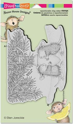 Stampendous - Cling Stamp - House Mouse - Paws to Warm Just so cute