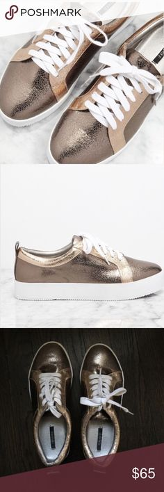 Spotted while shopping on Poshmark: Gilded platform sneakers! #poshmark #fashion #shopping #style #Forever 21 #Shoes