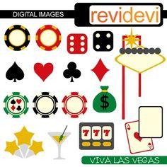 Viva Las Vegas 07293 - diseño gráfico imágenes digitales - uso comercial clipart - por revidevi