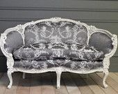 Exquisite Hand Carved French Settee