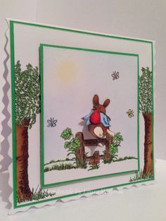 Woodland clear stamp set from Hobby Art. Card by Laura Williams. House Mouse Stamps, Art Cards, Create And Craft, Stamp Sets, Clear Stamps, Handmade Cards, Woodland, Card Ideas, Card Making