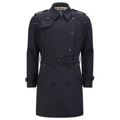 Aquascutum Men's Corby Double Breasted Trench Coat - Navy