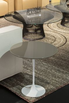 Saarinen Side Table with lacquer top, Salone 2014. Photo by A.Osio.