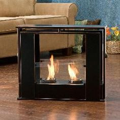Super cool, a portable fireplace for indoors or outdoors...a little ...