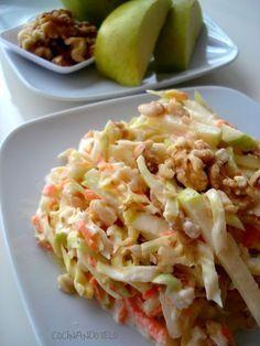 Cocina – Recetas y Consejos Salad Recipes, Diet Recipes, Cooking Recipes, Healthy Recipes, Coleslaw, Mexican Food Recipes, Ethnic Recipes, Appetizer Salads, Savoury Dishes