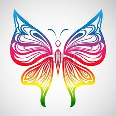 Colorful Butterfly 1 Stock Vector