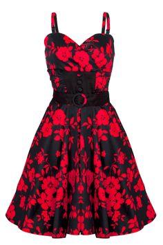 The perfect Valentine dress Edgy Dress, Goth Dress, Dress Red, Dress Black, Voodoo Vixen, Super Cute Dresses, Pretty Dresses, Vintage Inspired Dresses, Rockabilly Fashion