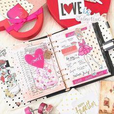 #Repost @plannersandflowers ・・・ Happy Valentine's day!  @myprimaplanner! May your day be filled with love! Feliz Valentine's day! Que seu dia seja repleto de amor! 💕✨ #valentines #valentinesday #myprimaplanner #plannersetup #love #picoftheday #primalove #mpp #planner #plannercommunity #plannerembellishments #plannerfun