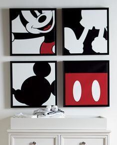 Shop Ethan Allen's Disney wall art and Disney paintings including art prints, dimensional art, limited edition pieces and more. Mickey Mouse Room, Mickey Mouse Crafts, Disney Crafts, Disney Canvas Art, Disney Wall Art, Mini Canvas Art, Bmax Disney, Deco Disney, Disney House